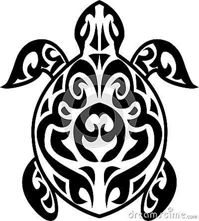 tatouage tribal de tortue images libres de droits image 24706249. Black Bedroom Furniture Sets. Home Design Ideas