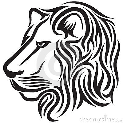 Tatouage tribal principal de lion