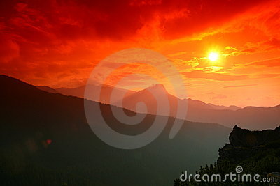 Tatra mountain sunset