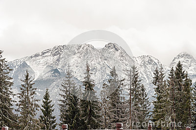 Tatra Mountains with Giewont peak