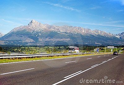 The Tatra Mountains and Highway
