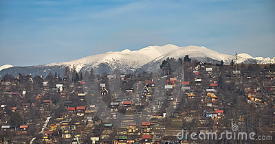 Tatra Mountains and summer houses area