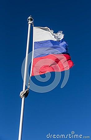 Tattered flag.