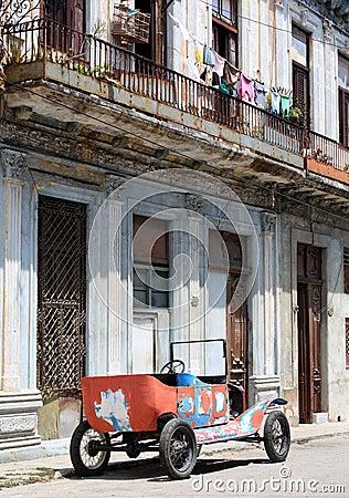 Tattered old car in a street of Havana, Cuba