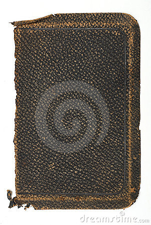 Tattered, Old Rough Leather Book Cover