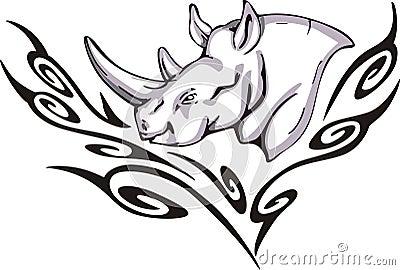 Tattoo носорога