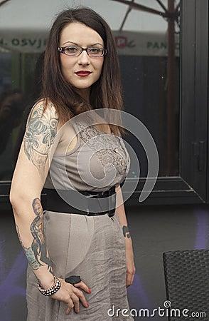 Tattoo as a fashion Editorial Stock Photo