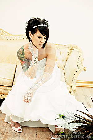Tattoo Bride on Couch