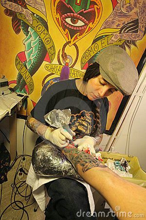 Tattoo convention Editorial Photo