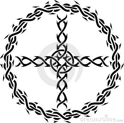 Tattoo cross royalty free stock image image 17479546