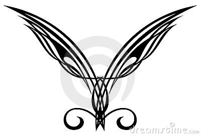 Tattoo design elements. Wings.