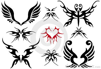 Tattoo design set