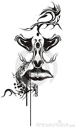 Tattoo человека grunge