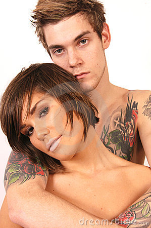 Free Tattoo Guy With Girl Royalty Free Stock Photography - 4738337