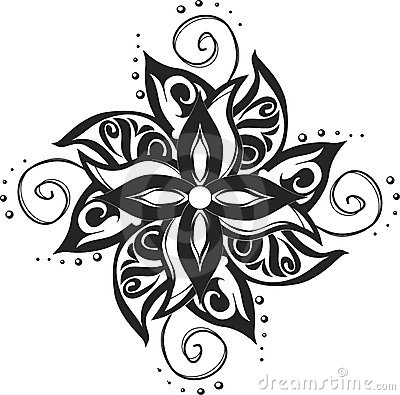 Tattoo ornamental pattern