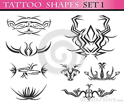 Tattoo shapes set 1