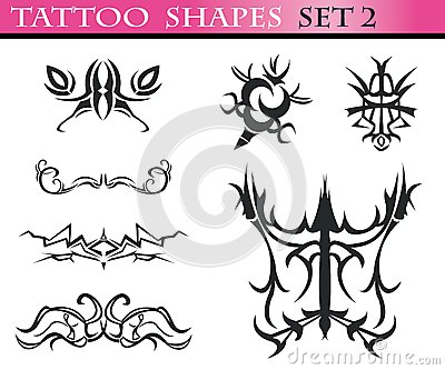 Tattoo shapes set 2