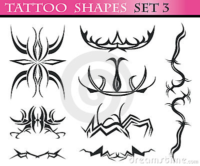 Tattoo shapes set 3