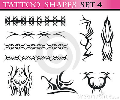 Tattoo shapes set 4