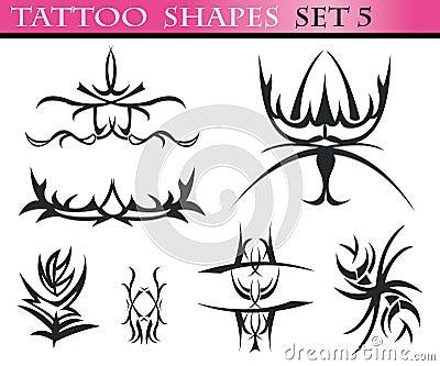 Tattoo shapes set 5