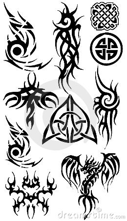 Tattoo silhouette collection