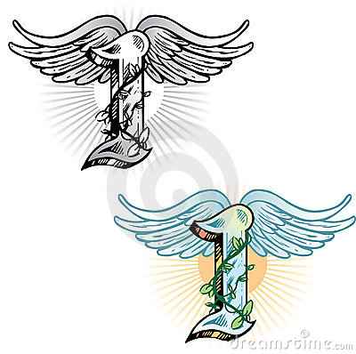 Tattoo style letter I