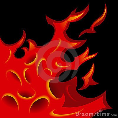 Tattoo-stylized flame tongues