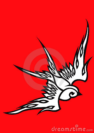 Free Tattoo Swallow 01 Stock Photography - 8307952