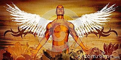 Tattooed angel