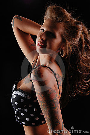 Tattooed Pin-up girl.
