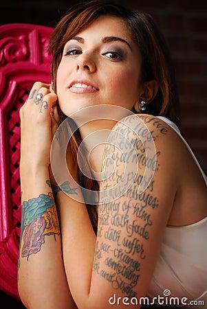 Free Tattooed Woman Stock Photography - 8531352