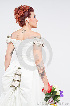 Tattoos Bride portrait
