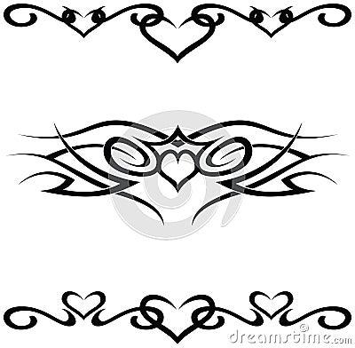 foto de de tatuajes tribales. Imagen de archivo libre de regalías: Tatuajes tribales