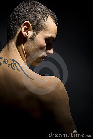 Tatuerad man