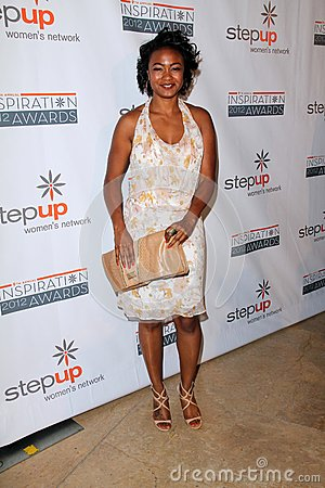 Tatyana Ali at the Step Up Women Network 9th Annual Inspiration Awards, Beverly Hilton Hotel, Beverly Hills, CA 06-08-12 Editorial Stock Image