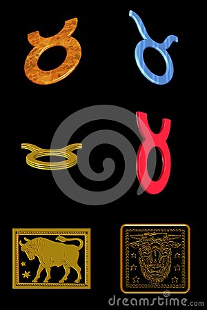 Taurus icon set