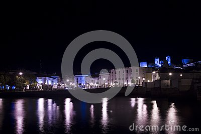 Tavira city by night