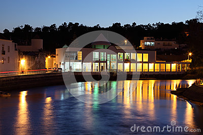 Tavira at night. Algarve, Portugal