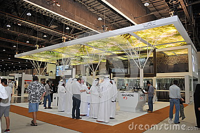 Tawazun weaponry pavilion at Abu Dhabi International Hunting and Equestrian Exhibition 2013 Editorial Image