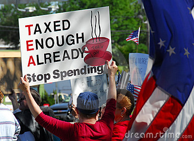 Tax Day Protests Editorial Image