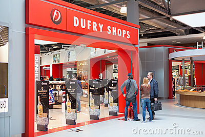 Tax and duty free shops Editorial Stock Image