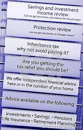 Tax financial advice