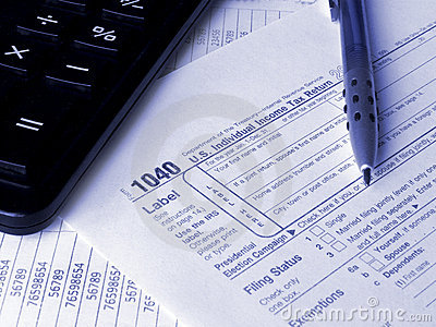 Tax form 1040 Editorial Stock Image