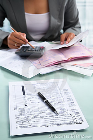 Tax form and accountant