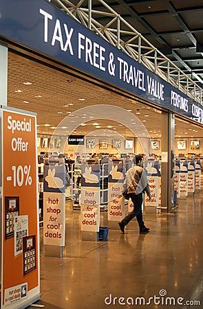 Tax free shop Editorial Photo