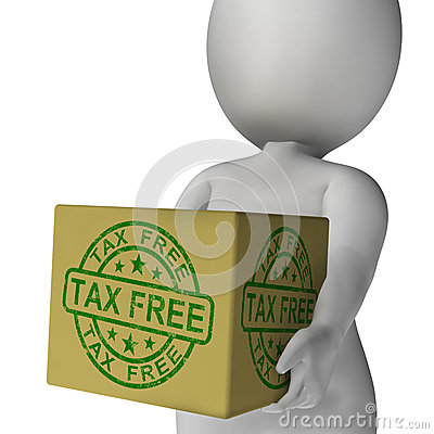 Tax Free Stamp On Box Showing No Duty