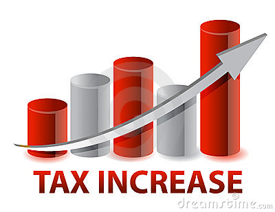 Tax Increase graph illustration design