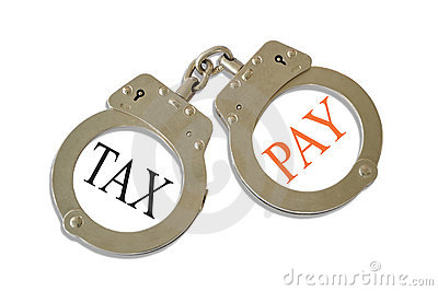 Tax Pay Handcuffs