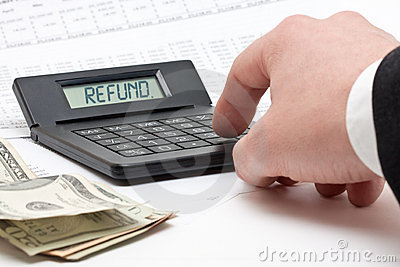 Tax refund calculation