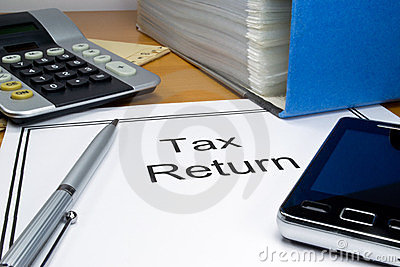Tax return papers
